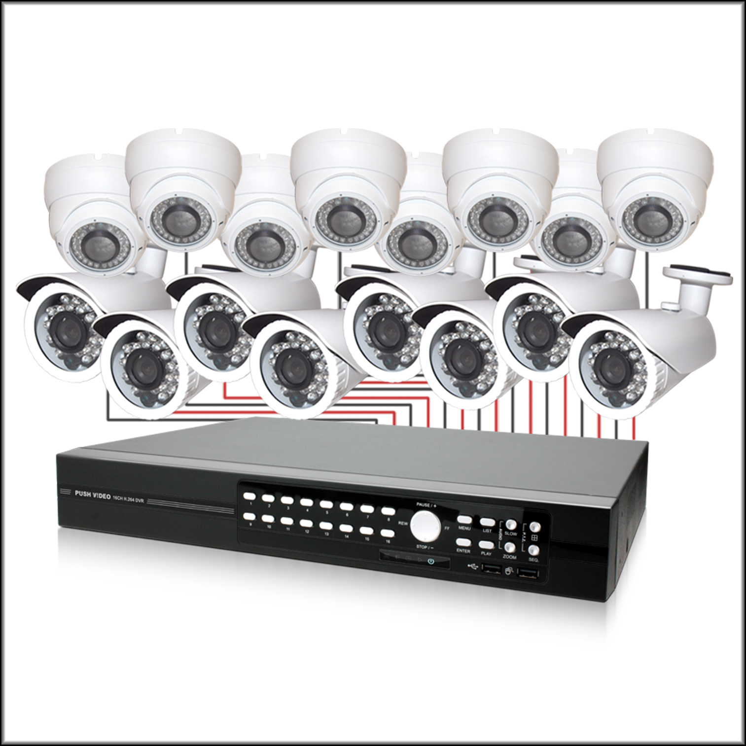 16 Channel COMPLETE Camera DVR System