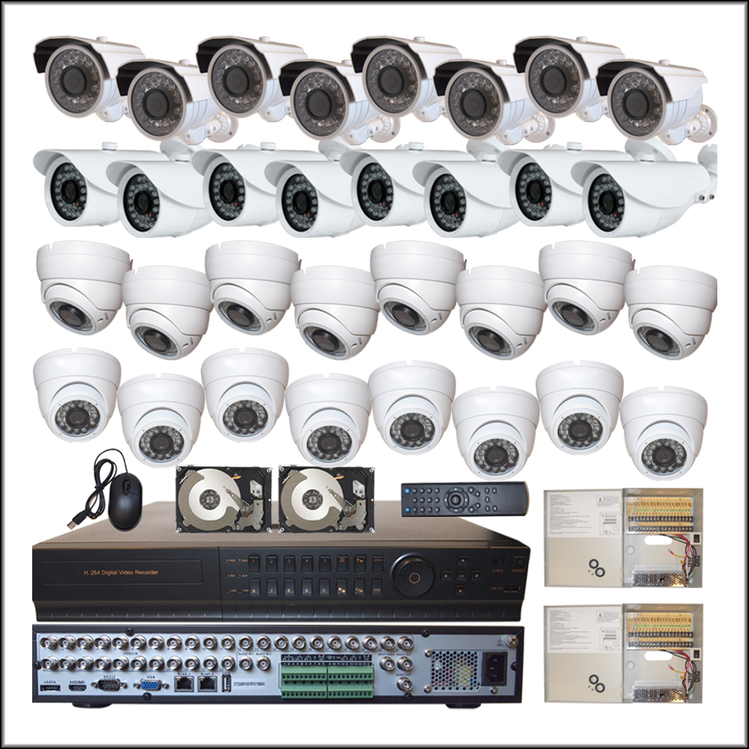 32 Channel COMPLETE Camera DVR System