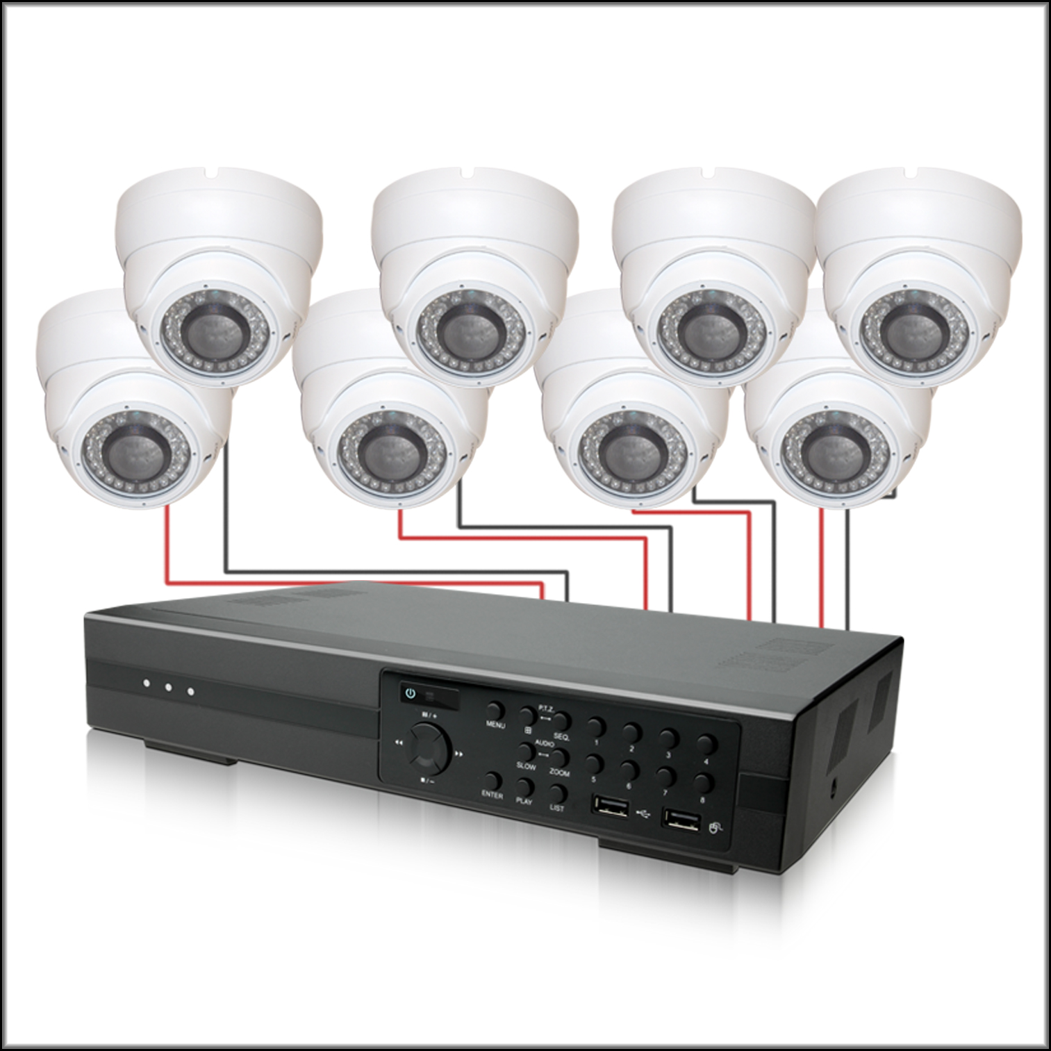8 Channel COMPLETE Camera DVR System