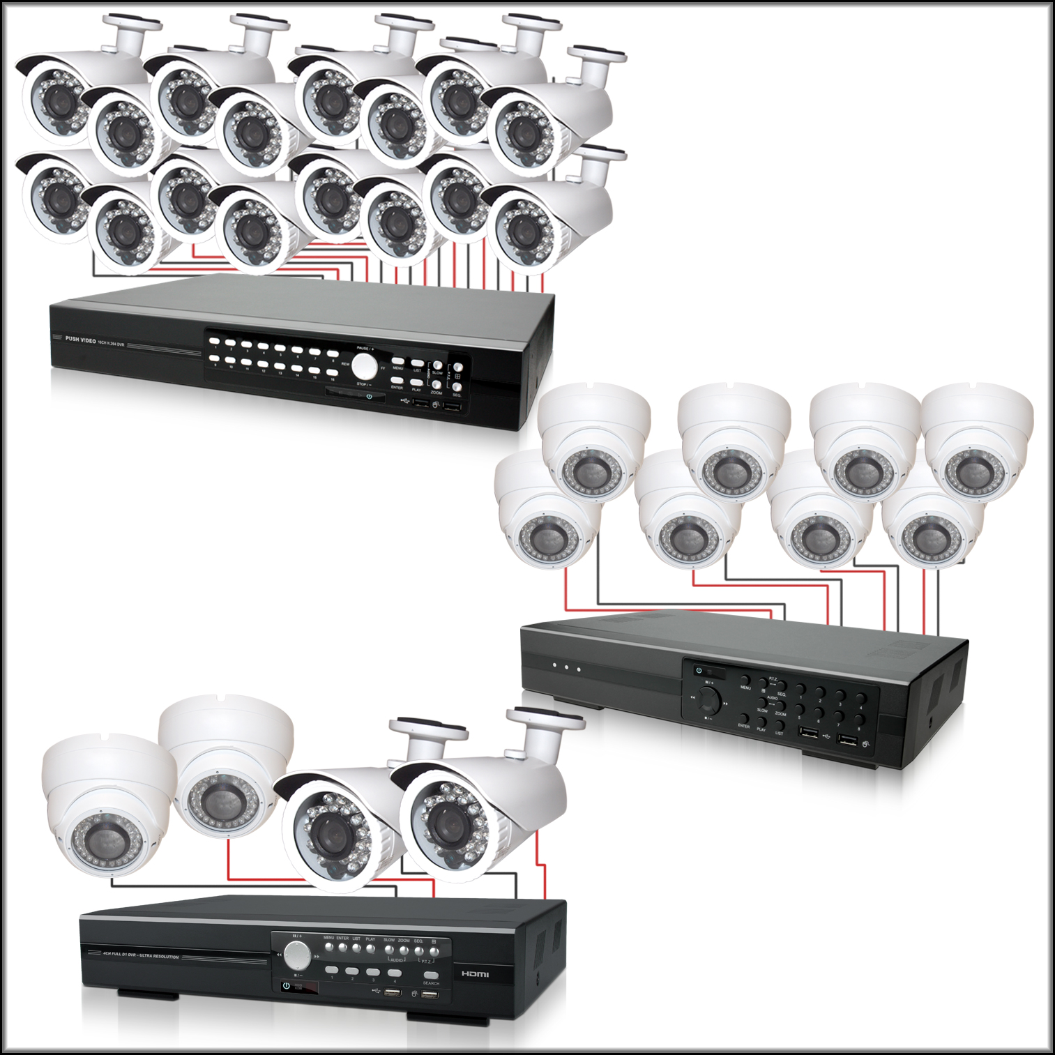 Complete Surveillance Systems, DVR & Cameras