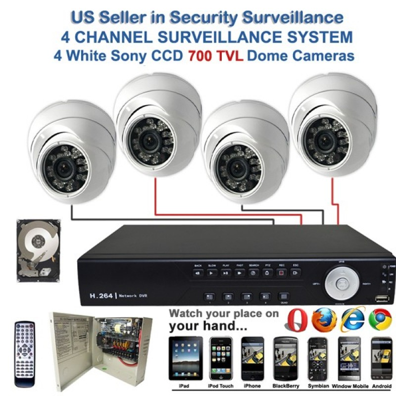 Dvr for camera security system