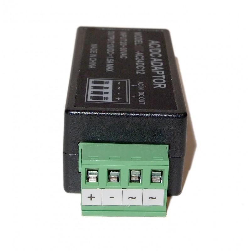 Ev Ac242dc12 24 Volt Ac To 1 5amp 12v Dc Power Converter