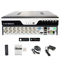 16 Channel H.265 CCTV Security Surveillance Standalone DVR (No Hard Drive included)
