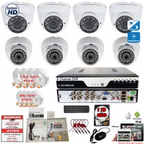8 Channel Security Surveillance Camera System Night Vision Remote Access w/1TB