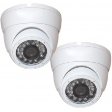 "EV-CDM168 V.8-WX2 2pcs 1/3"" Whether-proof Color 800 TVL 24 IR LED Metal Security CCTV DOME Camera"