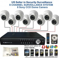 3. 8 Ch Channel Surveillance Home Security DVR Camera System APTINA CMOS Dome with 2TB HDD