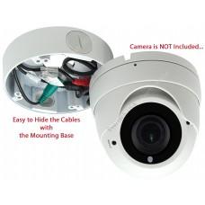 """EV-DB170 White 4.75"""" Camera Big Deep Base Junction Outlet Box for Varifocal Adjustable Lens Dome CCTV Security Cameras"""