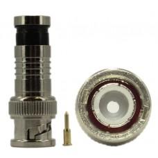 EV-BNC04 10pcs BNC Male Compression Coax RG59 CCTV Cable Connector