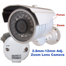 EV-C945IR V.7-W  SONY Effio CCD, 700TVL,  Day Night, Night Vision, 2.8-12mm Manual Zoom Lens, 30 Big IR Led, Indoor  Outdoor, CCTV Security Camera