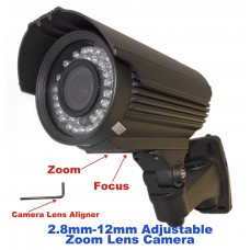 "EV-C948IR V.8 1/3"" 800TVL CMOS Sensor, DAY NIGHT, 42 IR LED, 2.8-12mm Zoom Lens, CCTV Security Bullet CAMERA"