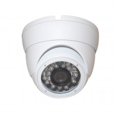 "EV-CDM168HYB V.1    -     1pc. 1/3"" Weatherproof Color 720p 20m IR LED Metal Security CCTV DOME Camera"