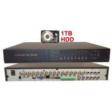 EV-DVR16D1HD 16 Ch Channel Home Office Retail Store Professional DVR Recorder 960H Full D1 HDMI + 1TB HDD