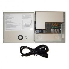 "EV-PB04-03PSL 4Ch  3Amp CCTV DVR 12V DC Power Supply Switch Box for CCTV cameras, Box size is 6.25"" x 6.25"" Total; 3 Amp, each Ch Max 1.1A"