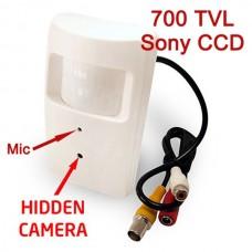 EV-PIR42A V.7 AUDIO 700TVL 1/3'' Sony CCD Hidden Color CCD PIR Camera Nanny Camera - Audio