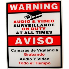 EV-SIGN Security Camera CCTV Warning Sign English Spanish
