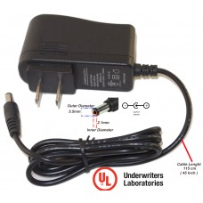 Evertech 12V DC 1 Amp (1000mA ) UL Certified Power Supply Adapter