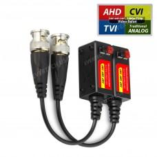 1 PAIR (2 Pcs) Port Passive transceiver CCTV Video Balun compact size CAT5/CAT6