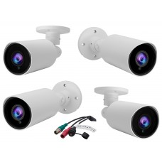 4 pcs. Evertech 1080P HD TVI AHD CVI Day Night Vision Indoor Outdoor CCTV Bullet Security Camera