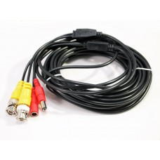 EV-C025VP-B  25 Feet Black Cable CCTV Security Camera Power Video PreMade Cable