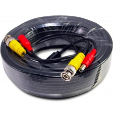 100 Feet Black ready made cable with power and video for CCTV Surveillance System