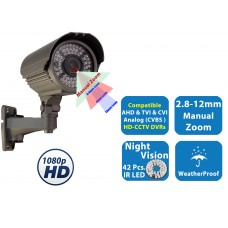 HD CCTV 1080P Weatherproof Night Vision Indoor Outdoor Security Bullet Camera