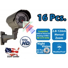 16x 960P HD 4 in 1 Night Vision Outdoor Indoor CCTV Home Bullet Security Camera