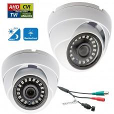 2 Pcs 1080p Dome CCTV Camera Wide Angle Lens Indoor Outdoor Weatherproof Metal casing