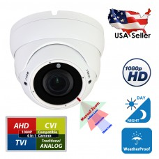 4in1 High Definition HD 1080P Night Vision Manual Zoom Outdoor Indoor Security Camera Dome