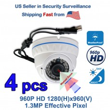 4x HD TVI AHD CVI Night Vision Manual Zoom Indoor Outdoor HD Security Camera