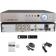 8 Channel HD Realtime H.265 high Profile Standalone DVR Recording Compatible With AHD/TVI/CVI/ Analog Cameras (No Hard Drive included)