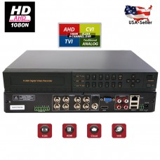 EV-DVR2508-H1- 8 Channel HYBRID 4in1 AHD/ CVI/ TVI Traditional Analog High Definition HDMI Cloud Security Camera DVR System with Alarm and 4 audio input (Viewcan Mobile Application) VGA RS485 RJ45 USB 2.0 + 1TB HDD