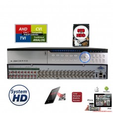 32 Channel H.264 5in1 HDCCTV AHD TVI CVI Analog  Home Office Professional DVR Recorder HDMI QR Cloud Support with 8TB Hard Drive Installed