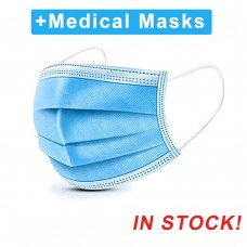 10PCS Disposable Medical  Surgical Mask antibacterial antivirus Anti-Dust Protection 3-layer Blue Mask