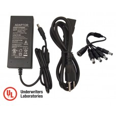 "EV-ADP125000 12V 5A=5000mA Camera POWER SUPPLY ADAPTER, w/4 Output with ""UL"" Standards Certified"