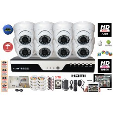 Set# 3. 8 Channel HD-CCTV DVR 8x HD Cameras Complete Security Surveillance System Set with  2TB HDD