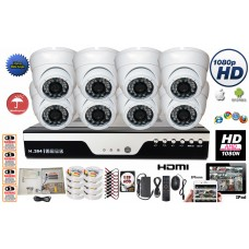 HD-CCTV 1080P 8 Channel CCTV Security Surveillance Camera System Complete Set with 2TB HDD