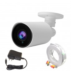 Evertech 1080p Bullet Security Camera Set with 50ft pre-Made Cable and 12V DC Power Supply Adapter