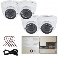 4 pcs. 1080P HD Dome CCTV Security Camera with 12V DC Power Supply Box