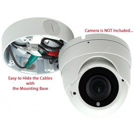"EV-DB170 White 4.75"" Camera Big Deep Base Junction Outlet Box for Varifocal Adjustable Lens Dome CCTV Security Cameras"