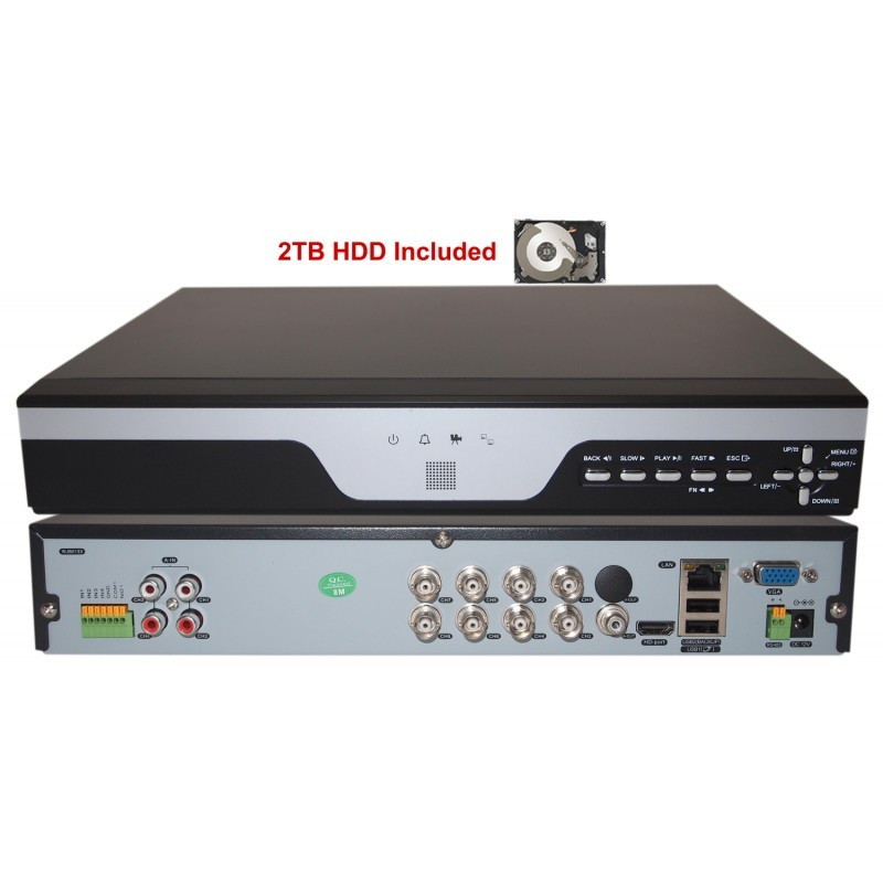 8 Channel Ahd 1 3mp Camera Surveillance Security System