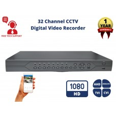 32 Channel No HDD H.265 4in1 HD CCTV AHD TVI CVI Analog  Home Office Professional DVR Recorder  (Hard Drive is not included)