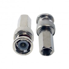 100 PCS Twist On BNC Male Connector for RG59 Coax Cable CCTV Security Camera Installation