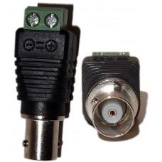 EV-BNC59FSCR 10pcs Cat5/6 to BNC Coaxial Connector Female Screw Terminal CCTV Security Camera