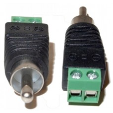 EV-RCAM2SW 10pcs UTP Cat5/Cat6 Cable to AV RCA Male Screw Terminal Audio/Video Connector