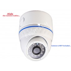 """EV-DB220 White 3.75"""" Camera Mounting Base Junction Outlet Box for Fixed Lens Dome CCTV Security Cameras"""