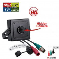 1080p HD 4in1 AHD TVI CVI, ANALOG Indoor Hidden Camera with Pinhole Lens