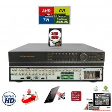 32 Channel H.264 5in1 DVR with 2 TB Hard-Drive HD-CCTV AHD TVI CVI Analog Home Office Professional Standalone DVR Recorder HDMI QR Cloud Support with 2 TB HDD Installed