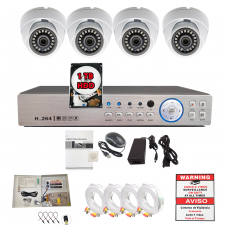 8 Channel HD H264 DVR 4X 1080p CCTV Security Camera Complete System Set w/1TB