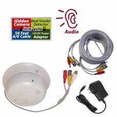 Hidden Covert Camera Functional Real Smoke Detector Cable Adapter Kit