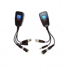 EV-BL960C-HYB Hybrid Video Balun HD/PV/PVD/PVA Passive Power Video and Data/Audio CCTV via UTP & RJ45 Twisted Pairs, Compatible with all HD-CVI, HD-TVI, HD-AHD